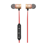 Bluetooth Noise Reduction Wireless Headset with Stereo HiFi Microphone and Magnetic Metal Ear Buds with A2DP and EDR