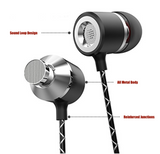 Earphone Wired 3.5mm in Ear | in Line Microphone and Remote | Stereo HiFi Noise Isolating High Resolution - Powerful Bass - Amazing Range of Sound Looper