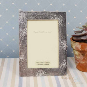 "Pewter 'Allium Flowers' 6x4"" frame by Lancaster & Gibbings"