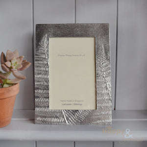 "Pewter 'ferns' 6x4"" frame by Lancaster & Gibbings"