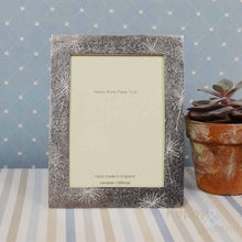 "Pewter 'allium flowers' 7x5"" frame by Lancaster & Gibbings"