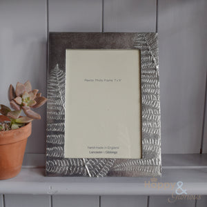 "Pewter 'ferns' 7x5"" frame by Lancaster & Gibbings"