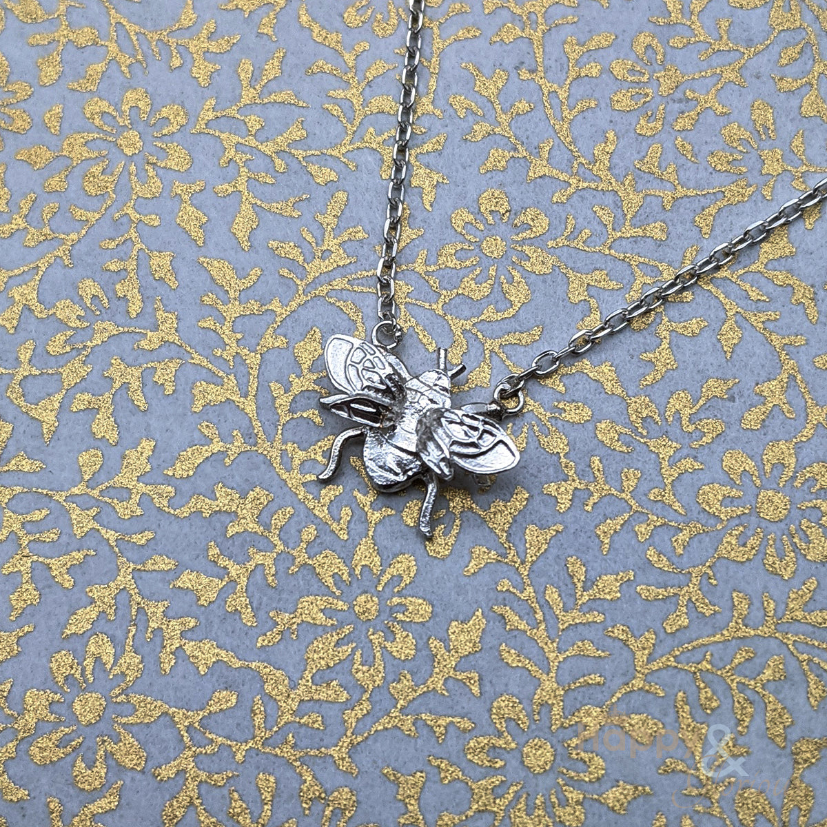 Sterling silver bumblebee necklace by Amanda Coleman