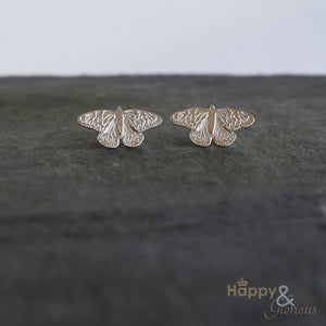 Sterling silver butterfly stud earrings by Amanda Coleman