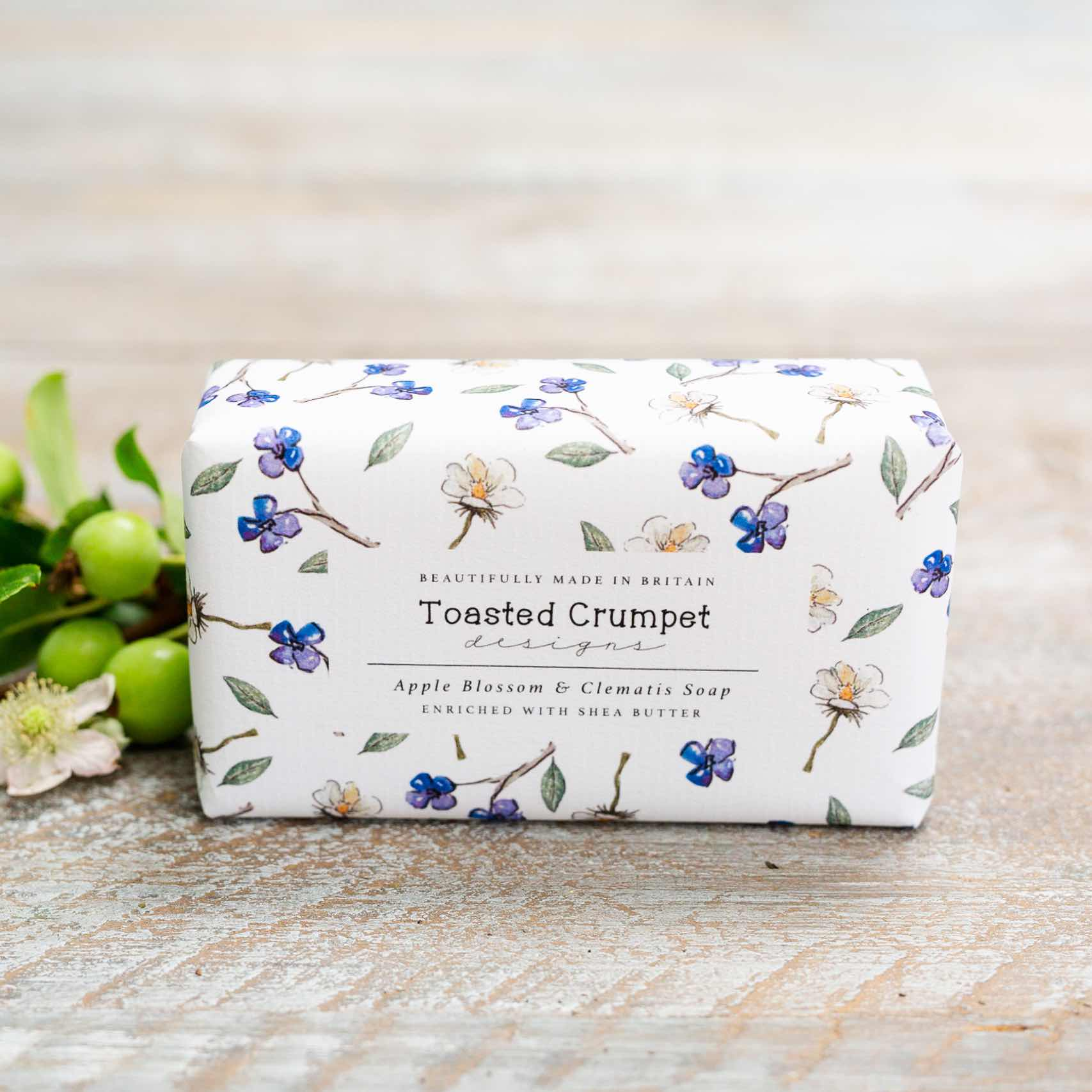 Apple blossom & clematis soap