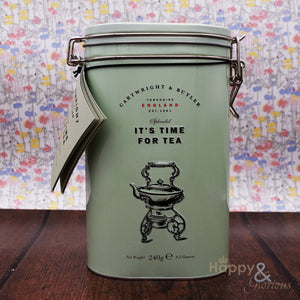 Time for Tea! Salted caramel biscuits & English Breakfast tea in vintage style tin