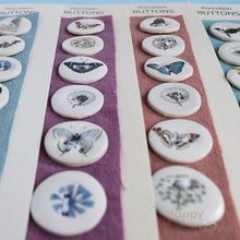 Pack of six small handmade ceramic buttons - made in Dorset