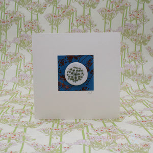 Handmade porcelain decoration greetings card