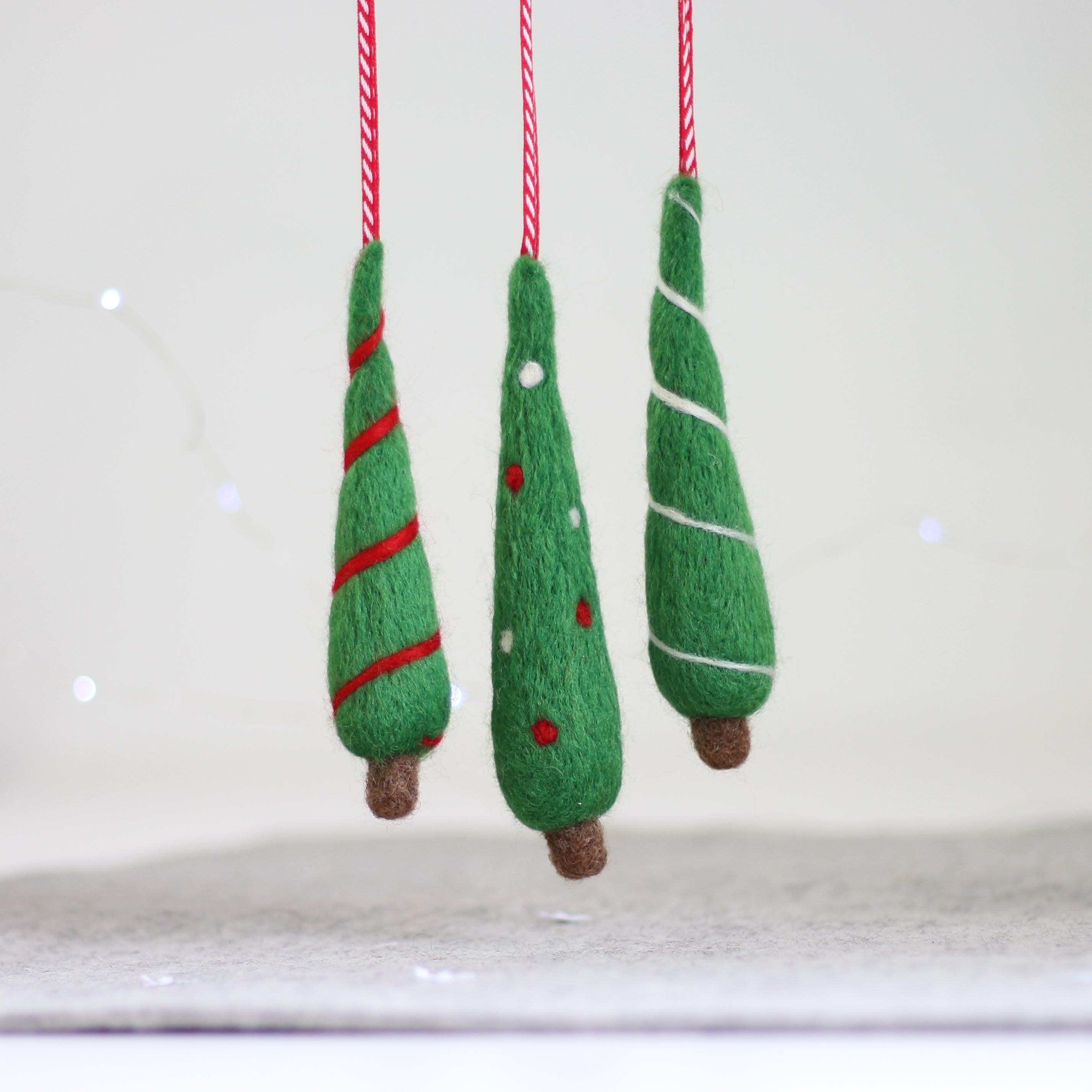 Christmas trees needle felting craft kit