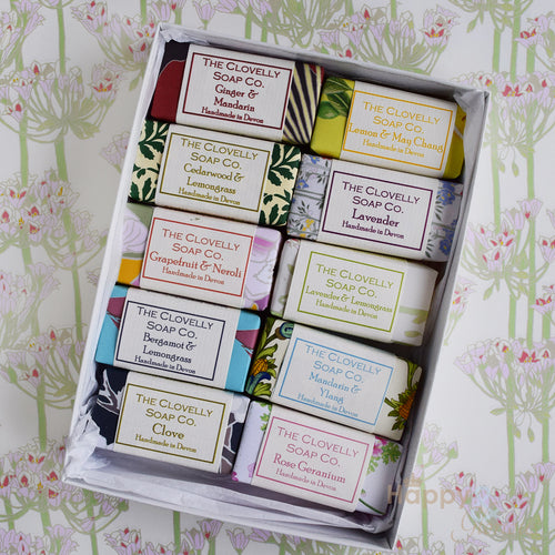 Clovelly Soap gift box with 10 guest soaps