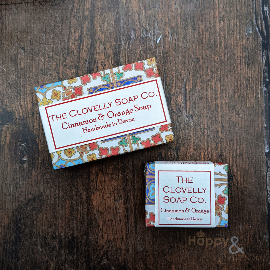 Clovelly cinnamon & orange essential oil soap