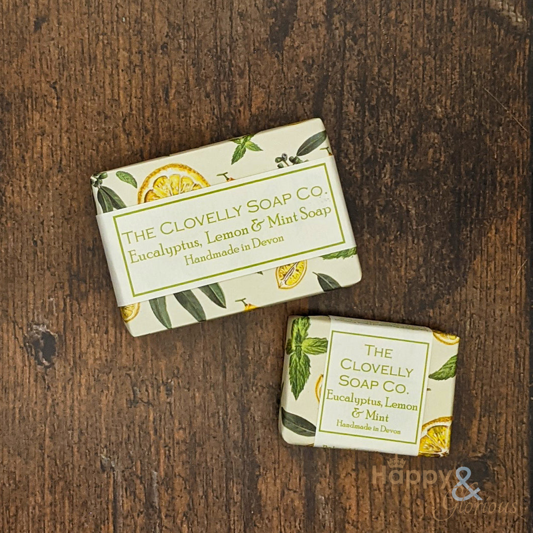 Clovelly Eucalyptus, Lemon & Mint essential oil soap