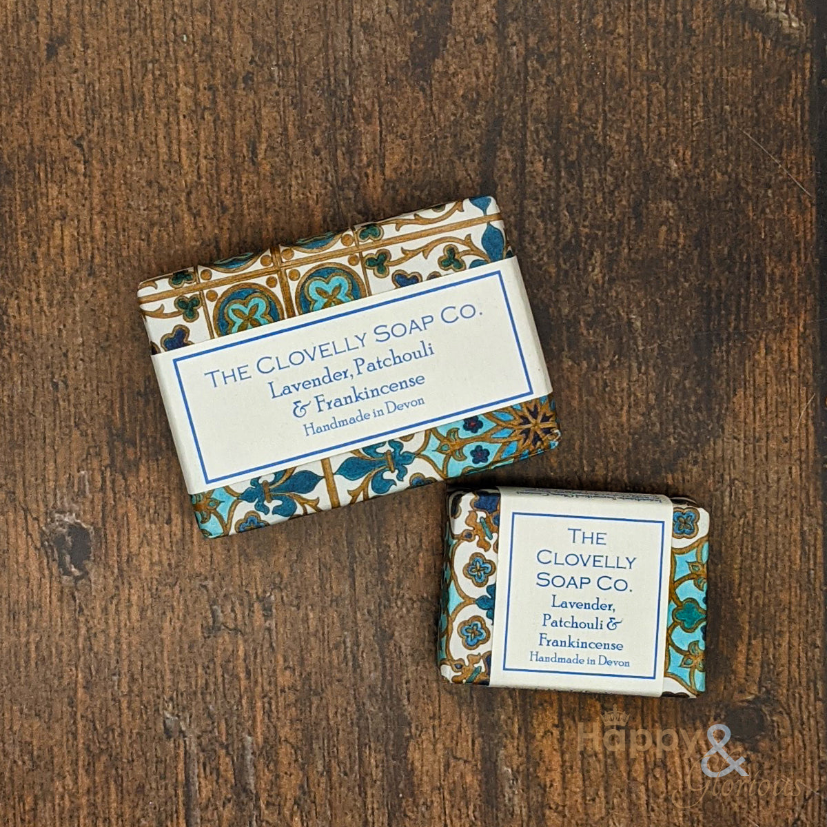 Clovelly lavender, frankincense & patchouli essential oil soap