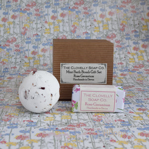 Bath bomb & guest soap gift set