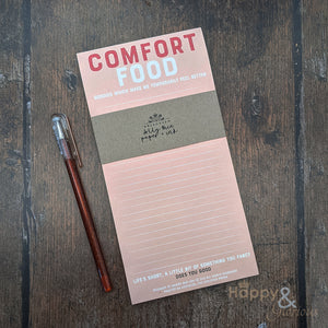 Comfort food shopping list notepad