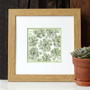 Cow Parsley 'Greenery' digital print by Kate Tompsett
