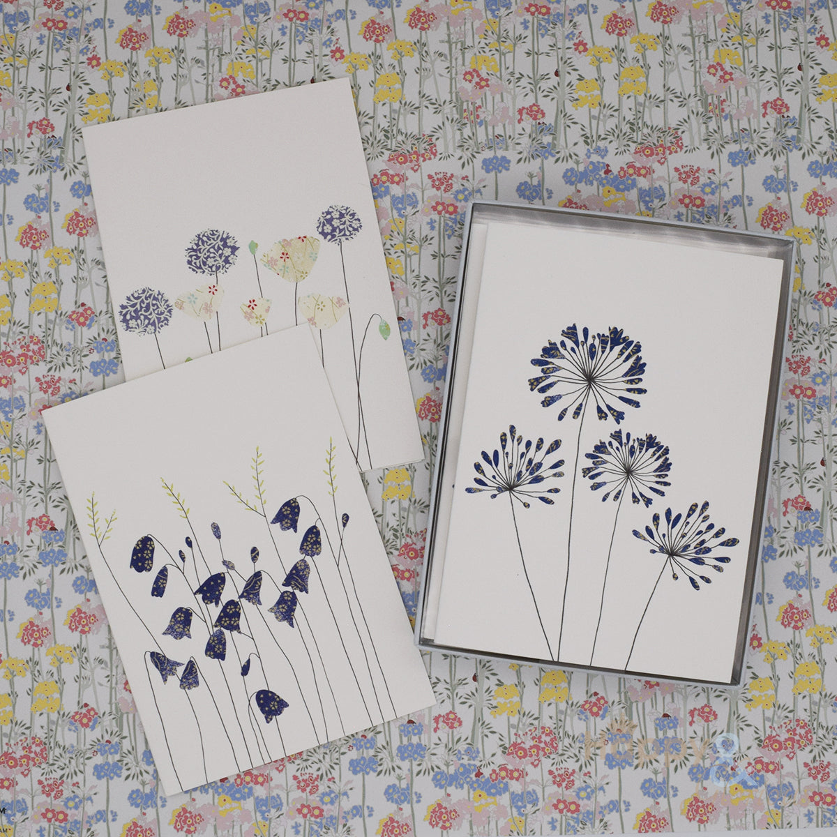 Summer flowers set of six notecards