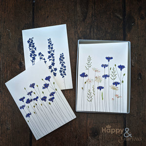 Botanicals & flowers set of six notecards