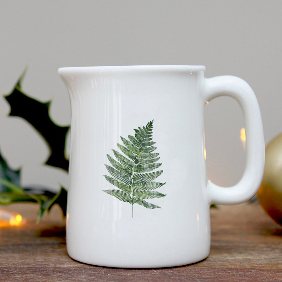 Fern leaf mini china jug