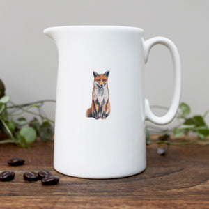 Fox half pint china jug