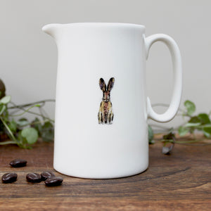 Hare half pint china jug