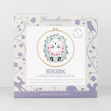 Hedgehog contemporary embroidery craft kit