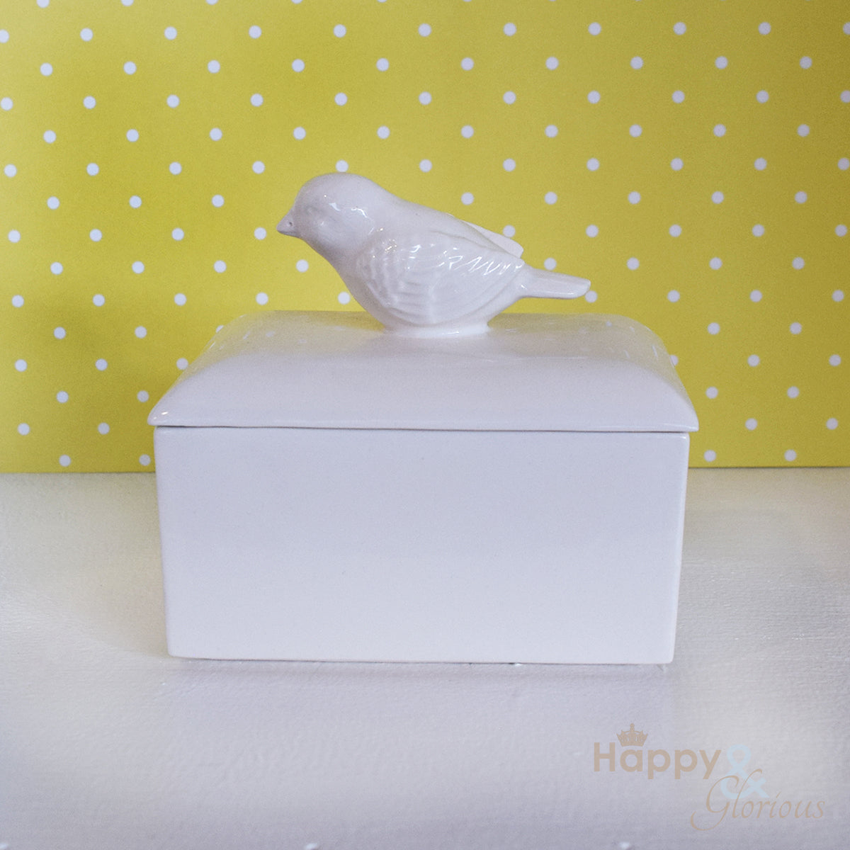 Ceramic bird butter dish by Katie Brinsley