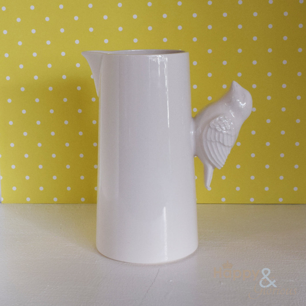Ceramic bird milk jug by Katie Brinsley