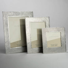 "Pewter 'Kiriko' 3.5"" square frame by Lancaster & Gibbings"
