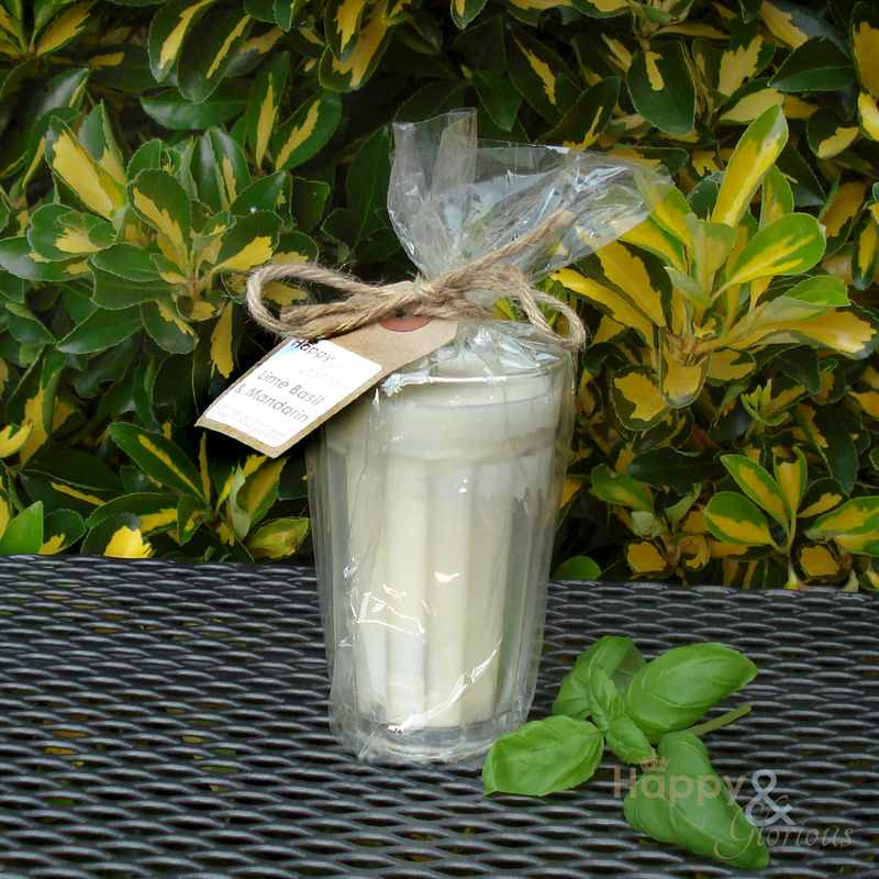 Organic lime basil & mandarin scented candle - Natural Plant Wax