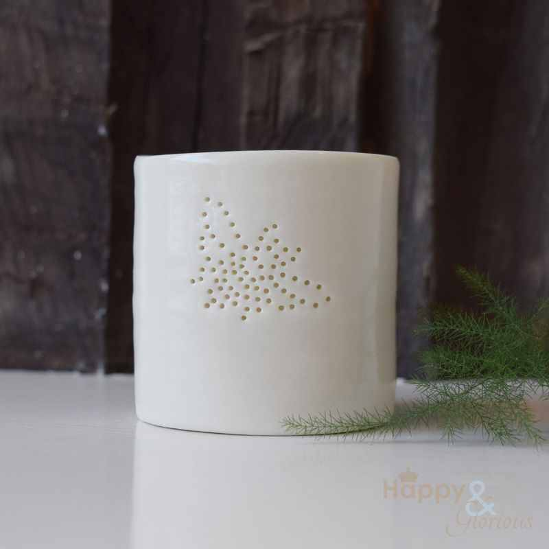 Porcelain bee tealight candle holder by Luna Lighting