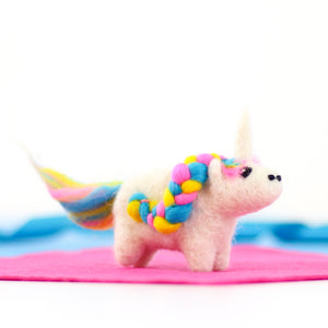 Mini unicorn needle felting craft kit