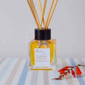 Orange, Clove & Cinnamon fragrance reed diffuser