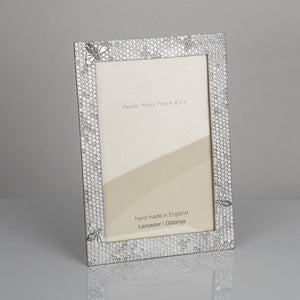"Pewter 'honeycomb' 6x4"" frame by Lancaster & Gibbings"