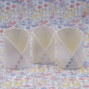 Porcelain button tealight candle holder by Penny Spooner