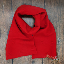 Red felted merino wool scarf