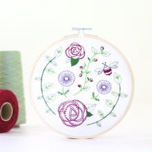 Rose Garden contemporary embroidery craft kit