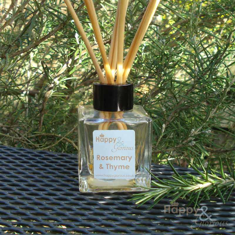 Rosemary & Thyme essential oil fragrance reed diffuser