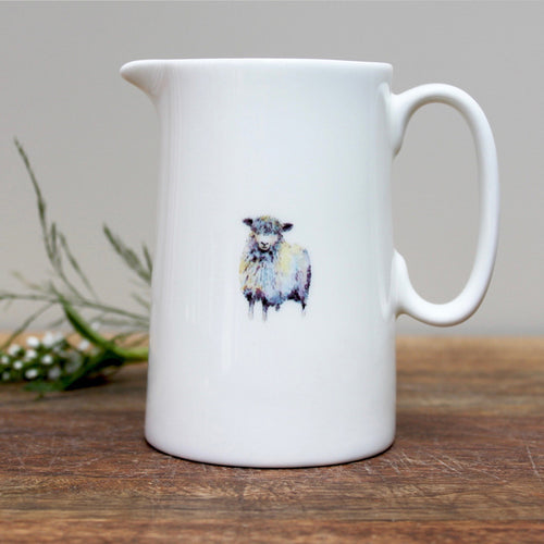 Sheep half pint china jug