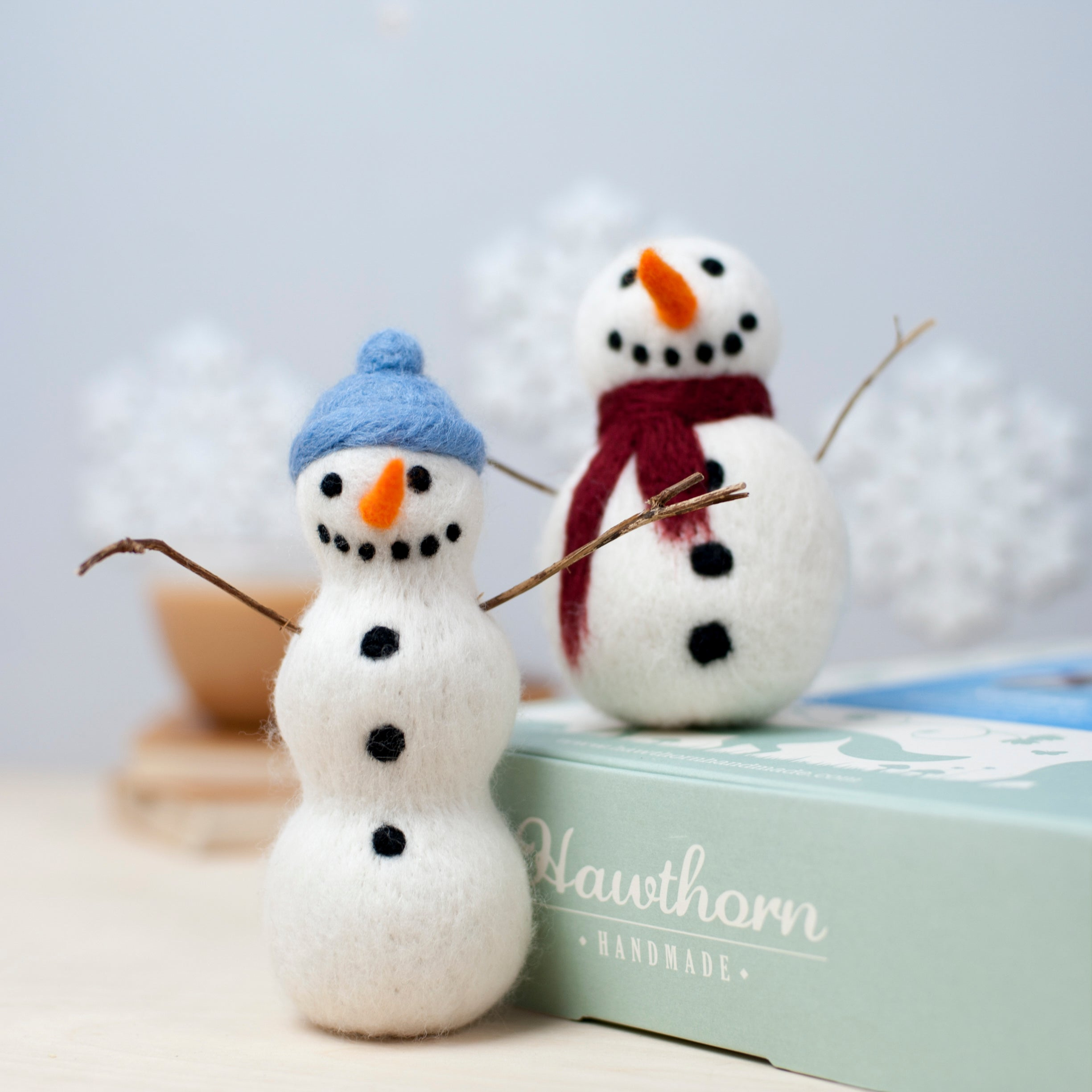 Christmas snowmen needle felting craft kit