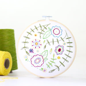 Spring Posy contemporary embroidery craft kit