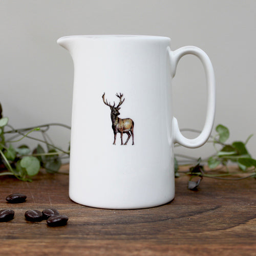 Stag half pint china jug
