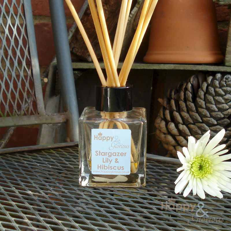 Stargazer Lily & Hibiscus fragrance reed diffuser