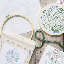 Succulents contemporary embroidery craft kit