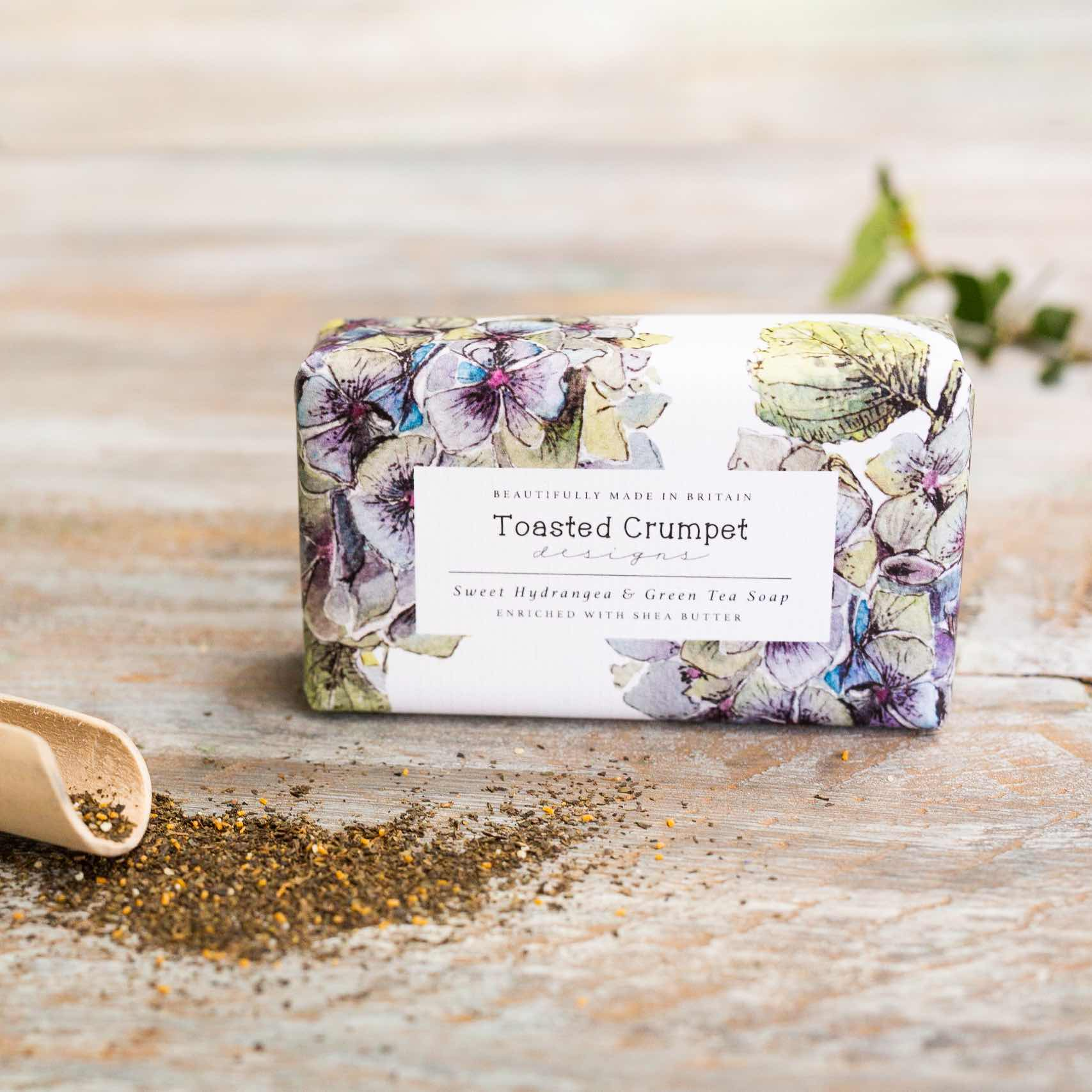 Sweet hydrangea & green tea soap