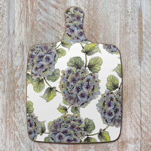Hydrangea flowers chopping board
