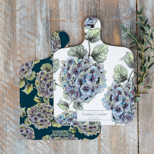 Hydrangea flowers reversible mini chopping board