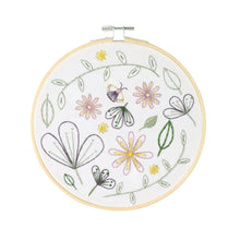 Wildflower Meadow contemporary embroidery craft kit