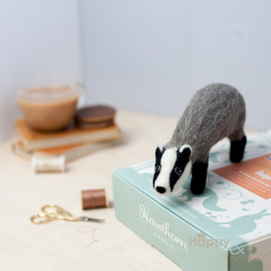 Badger needle felting craft kit