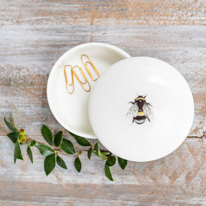 Bee fine china trinket dish